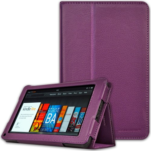 Case Crown Bold Standby Purple For Amazon Kindle Fire Tablet Not Compatible With HD 7 Big SALE
