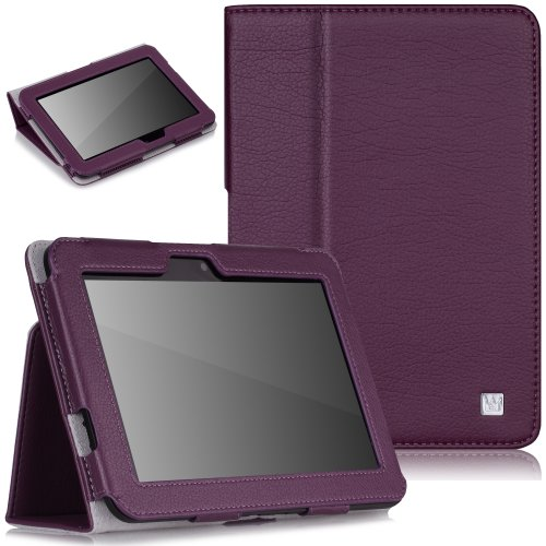 CaseCrown Bold Standby Case (Purple) for Amazon Kindle Fire HD 7 Inch (Built-in magnet for sleep / wake feature)